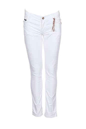 baker bridge pantalons fille de couleur blanc