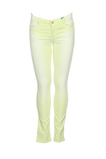 cks pantalons fille de couleur jaune