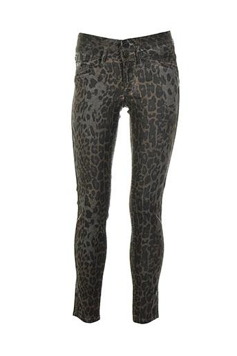 corleone pantalons femme de couleur gris