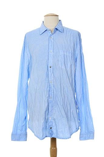 rare chemises homme de couleur bleu