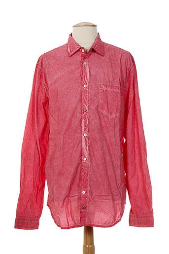 Chemise manches longues rouge RARE pour homme