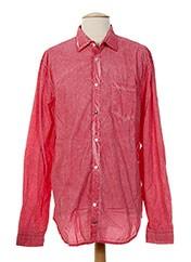 Chemise manches longues rouge RARE pour homme seconde vue