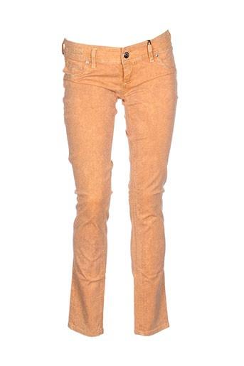 freesoul pantalons et decontractes femme de couleur orange