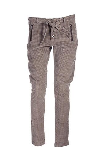 maryley pantalons et decontractes femme de couleur marron