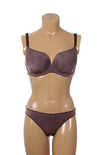 selmark lingerie femme de couleur marron