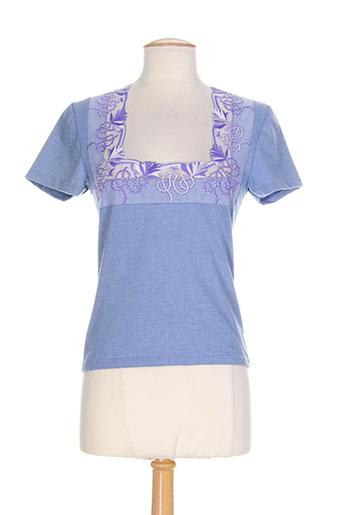 libertine tops et caracos femme de couleur bleu