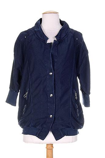 high vestes femme de couleur bleu