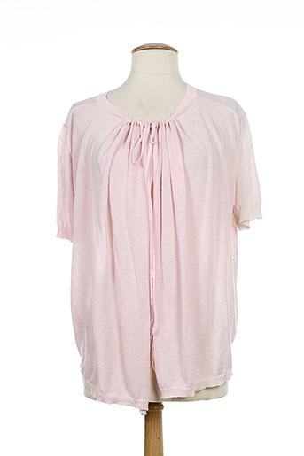 bandolera cardigans femme de couleur rose