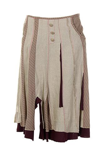 instants voles jupes femme de couleur beige