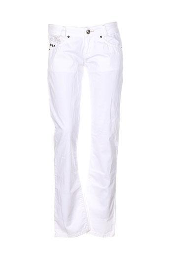 killah pantalons et decontractes femme de couleur blanc