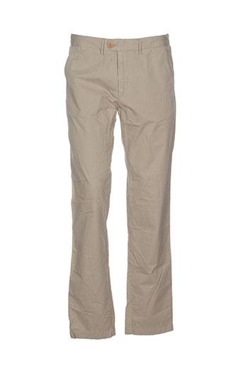 hartford pantalons homme de couleur beige