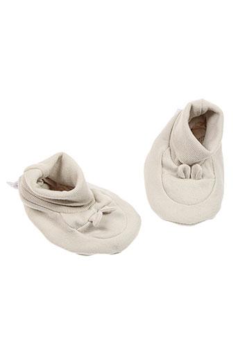 absorba chaussons enfant de couleur beige