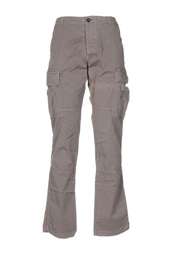 no id pantalons femme de couleur gris