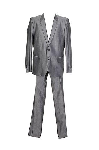 christian et lacroix pantalon et veste homme de couleur gris