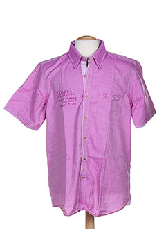 Chemise manches courtes rose FELLOWS pour homme