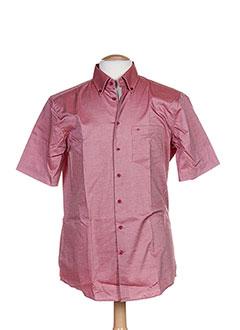 Chemise manches courtes rouge SEIDEN STICKER pour homme