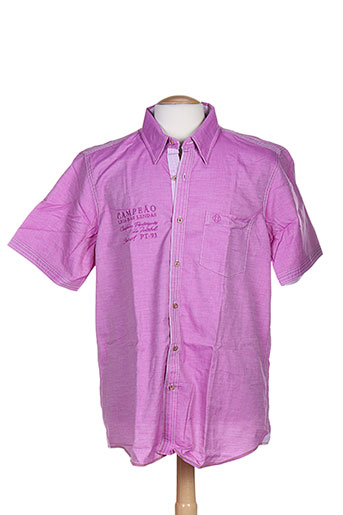 fellows chemises homme de couleur rose