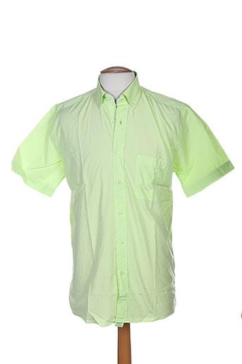 pierre clarence chemises homme de couleur vert