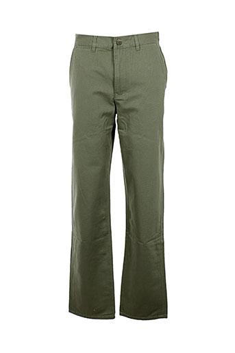 c.seventeen pantalons homme de couleur vert