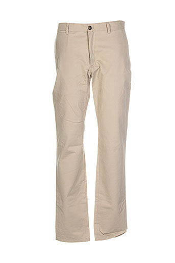 a.p.c. pantalons homme de couleur beige