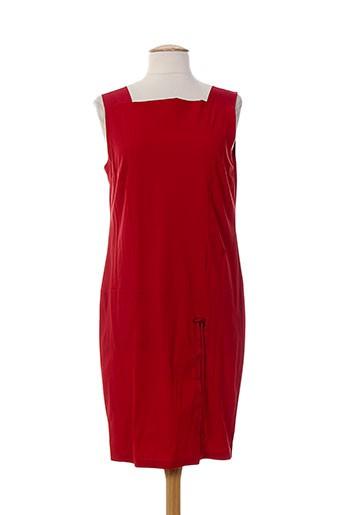 Robe mi-longue rouge ALMALIBRE pour femme