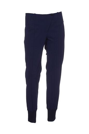 alma libre pantalons femme de couleur bleu