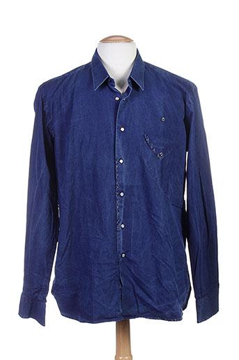 u-ni-ty chemises homme de couleur bleu