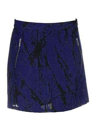 Jupe courte bleu COSTUME NEMUTSO pour femme