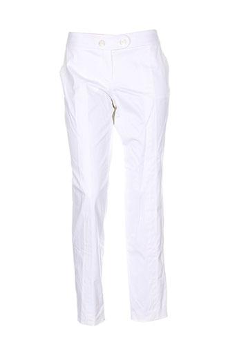 kenzo pantalons femme de couleur blanc