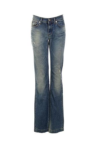 Jeans coupe droite bleu DOLCE & GABBANA pour femme