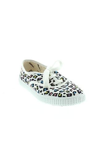 victoria chaussures fille de couleur blanc