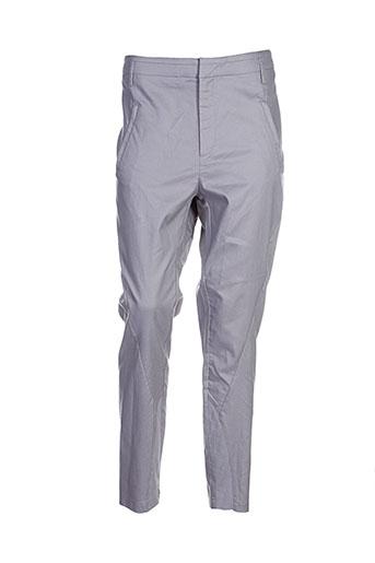 yaya pantalons femme de couleur gris