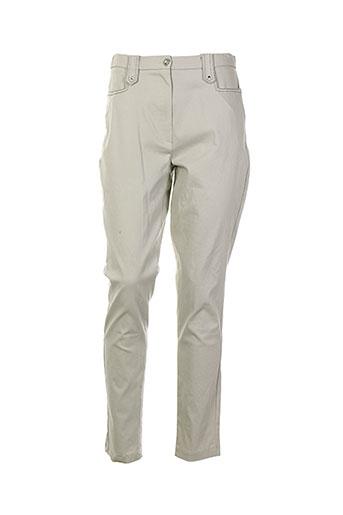 edmond boublil pantalons femme de couleur beige