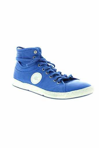 pataugas baskets femme de couleur bleu