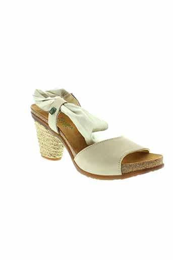 el et naturalista sandales et nu et pieds femme de couleur beige