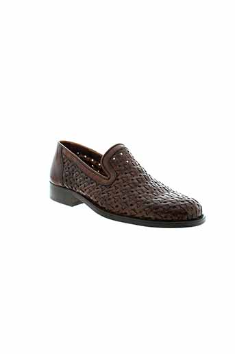 uomo mocassins homme de couleur marron