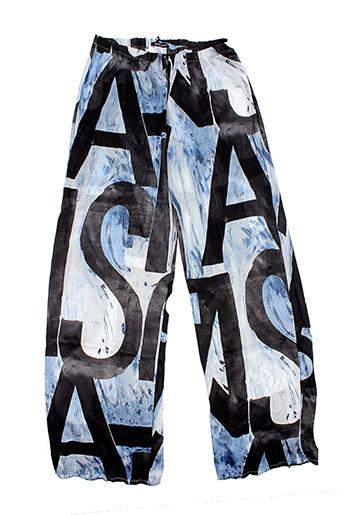 messcalino pantalons femme de couleur noir
