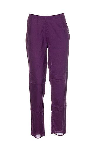 la et fiancee et du et mekong pantalons et decontractes femme de couleur violet