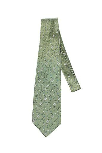 artesie cravates homme de couleur vert
