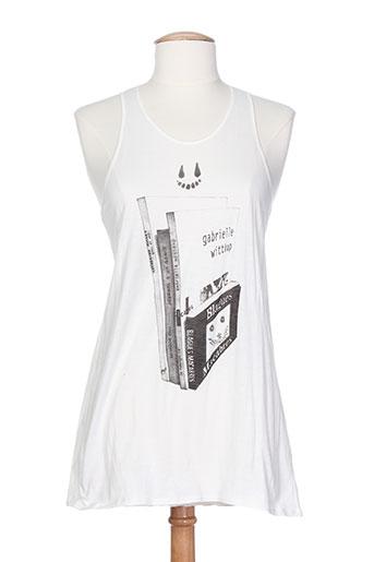 devastee t-shirts femme de couleur blanc
