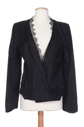 lou de beauregard vestes femme de couleur noir