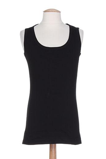 denim gallery biarritz t-shirts femme de couleur noir