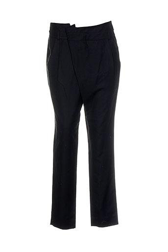 lou de beauregard pantalons femme de couleur noir