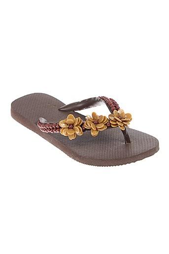 havaianas chaussures femme de couleur marron