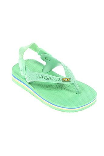 havaianas chaussures enfant de couleur vert