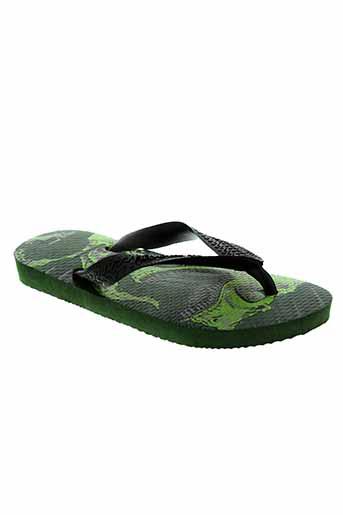 havaianas chaussures garçon de couleur vert