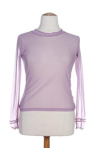 alice et barnabe chemises femme de couleur violet