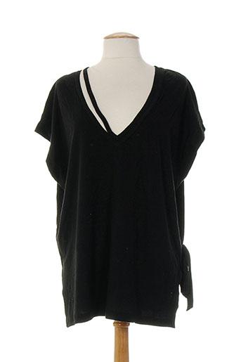 lou de beauregard t-shirts femme de couleur noir