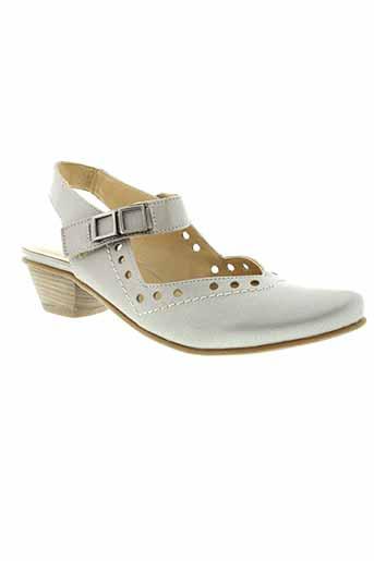fidji sandales et nu et pieds femme de couleur gris
