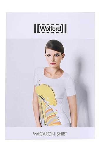 wolford t-shirts femme de couleur jaune